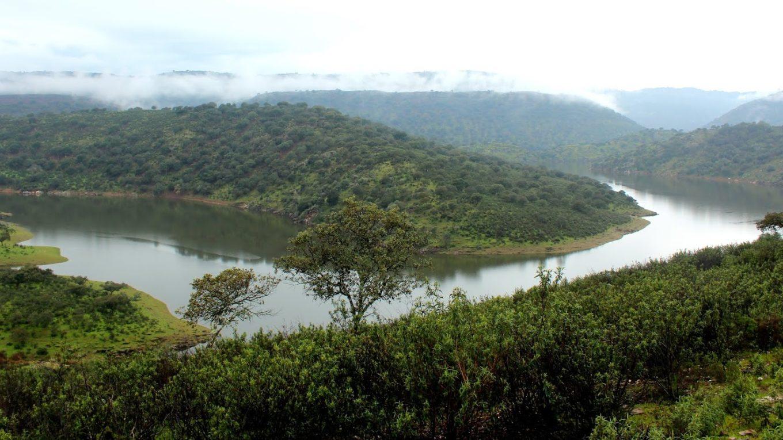 Río Tajo en el Parque Nacional de Monfragüe, Cáceres