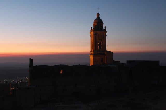 Puesta de sol en medina Sidonia