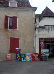 Arte en las calles de Salies de Béarn. País Vasco-Francés