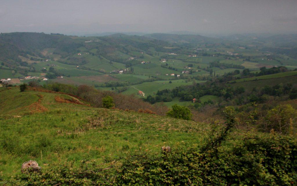 Paisajes de montaña en el País Vasco Francés