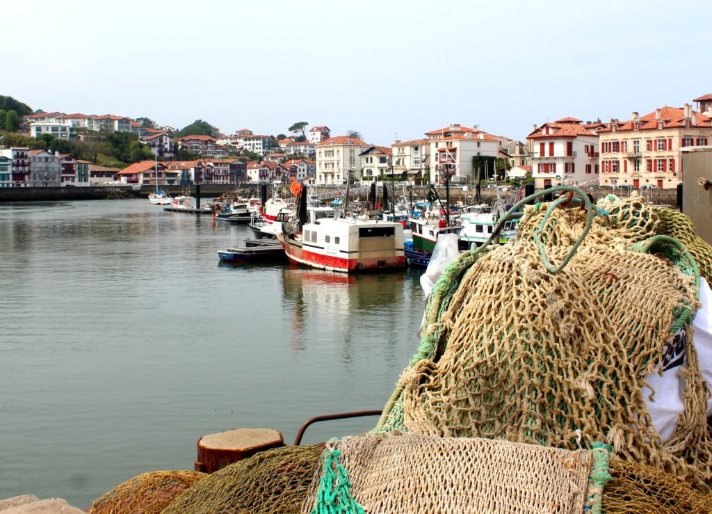 Aparejos de pesca en el Puerto de San Juan de Luz