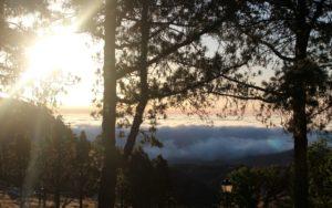 Mar de nubes en Cruz de Tejeda