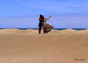 Andando por las dunas de Maspalomas