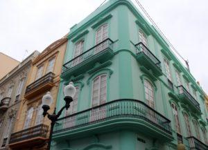 Fachadas modernistas en el Barrio de Triana. Las Palmas