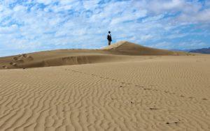 Pisadas en las dunas de Maspalomas