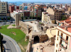 Vistas del circo romano de Tarragona