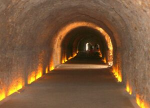 Vueltas interiores del circo romano de Tarragona. Tarraco