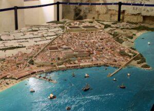 Maqueta de Tarraco del siglo I a. C.
