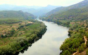 Vistas  del río Ebro desde el castillo de Miravet. Castillo de Miravet