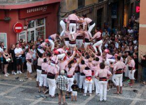 Castell o torre humana en la plaza de Tarragona