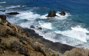 Vista de la playa de Benijo