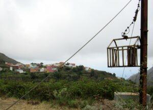 Cesta transportadora en el Parque Rural de Anaga