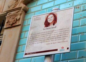 Ruta literaria por Zafra y cartel de Dulce Chacón