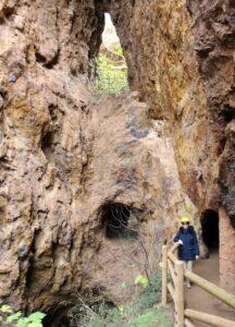 Túneles en la mina de la Jayona