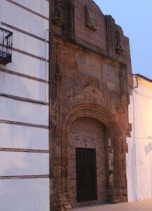 Fachada del palacio de los Zapata en Llerena