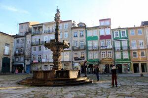 Fachadas de colores en Braga