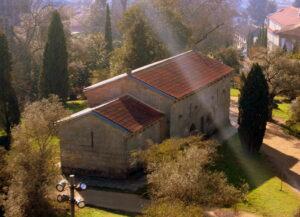 Vistas desde el castillo de Guimaraes. Iglesia de San Miguel del Castillo