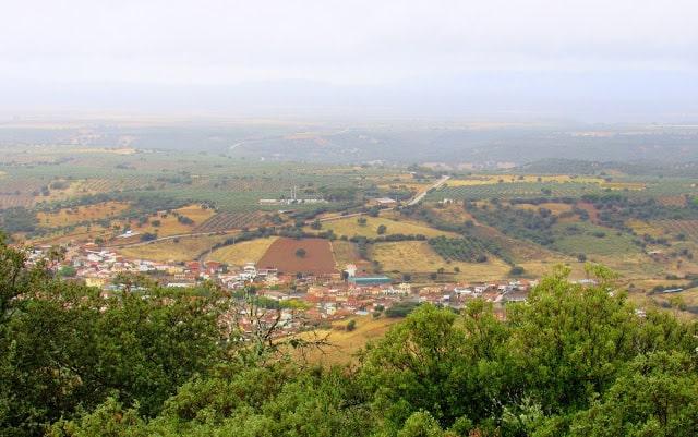 Vistas desde la Plaza de los Moros en Horcajo de los Montes