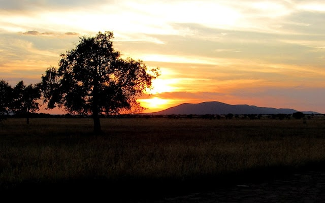 Puesta de sol desde el Centro de Visitantes de Casa Palillos