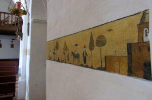 Frescos de la iglesia de Sant Miquel de Balansat en Ibiza