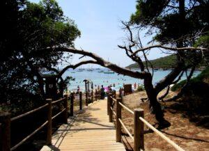 Paseo de la playa de las Salinas de Ibiza