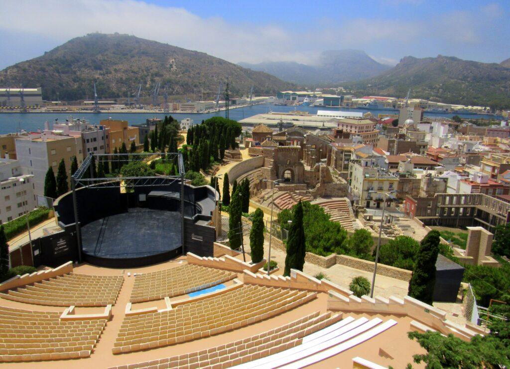Teatro romano y moderno de Cartagena