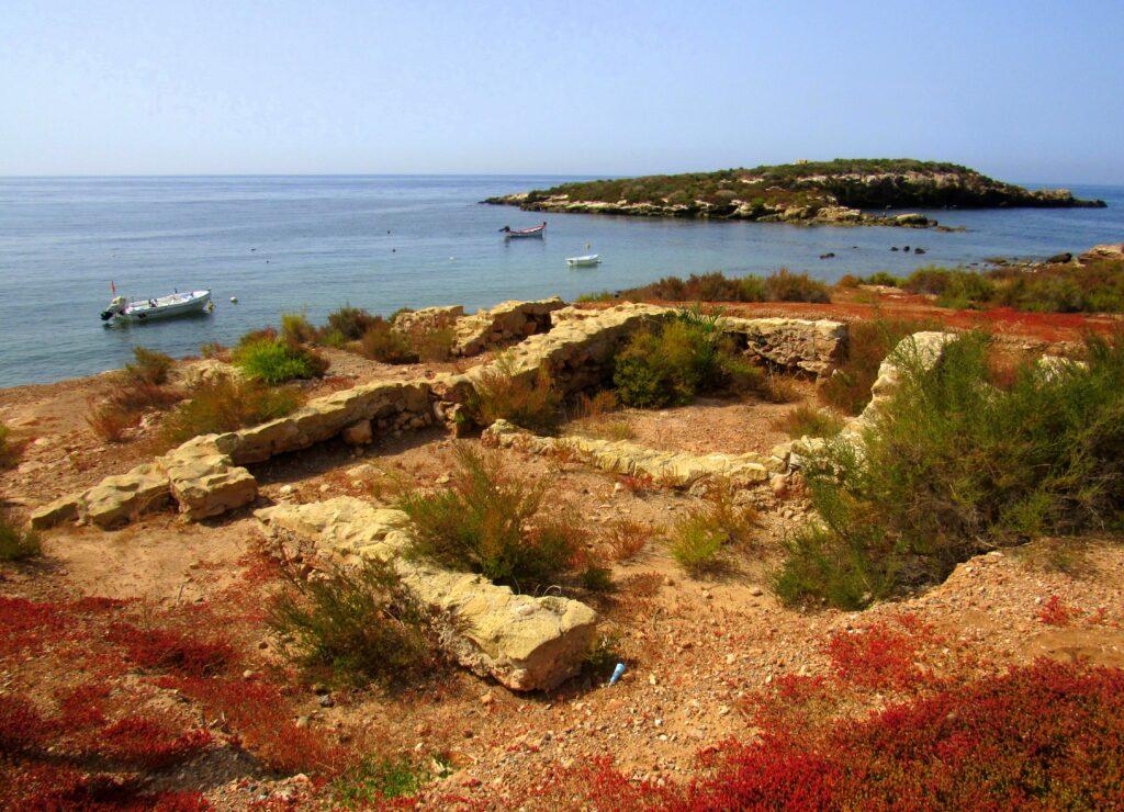 Yacimiento romano de Isla Plana
