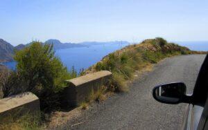 Carretera de Cabo Tiñoso en Murcia