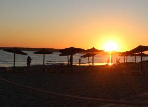 Playa des Arenals en la puesta de sol