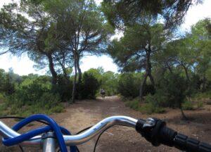 En bicicleta a Cala Saona
