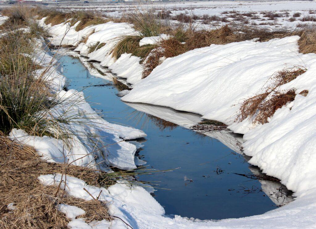 Nieve en el arroyo