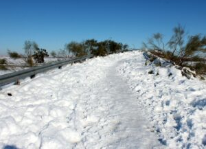 Carreteras cubiertas de nieve