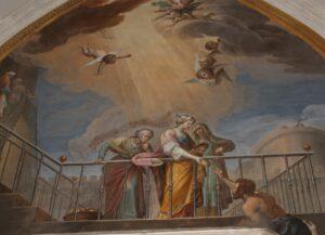 Frescos del claustro de la catedral de Toledo