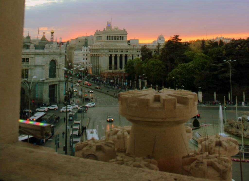 Puesta de sol desde el Palacio de Cibeles