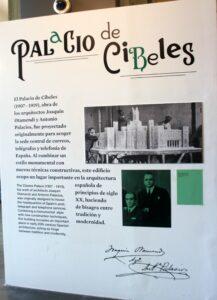 Carteles del Palacio de Cibeles