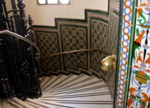 Escalera circular palacio de Cibeles