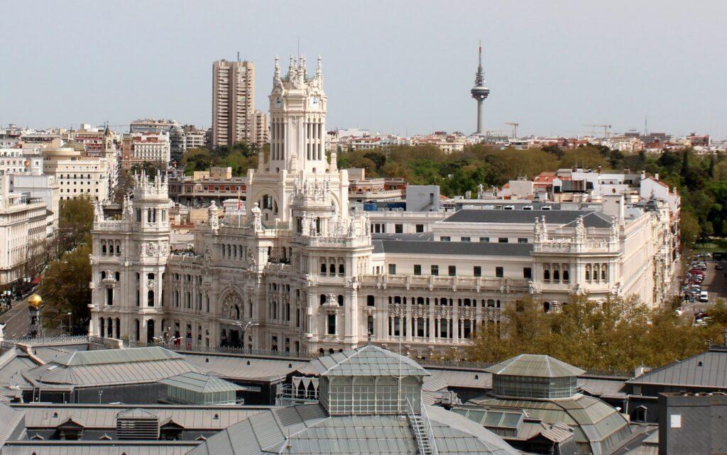Palacio de Cibeles desde el Circulo de Bellas Artes
