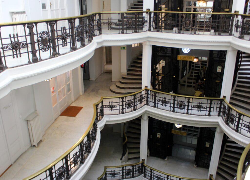 Patio central Casa Palazuelo
