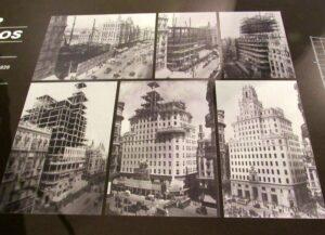 Fotos antiguas de la construcción del edificio telefónica