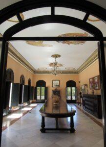Interior palacio del Acebrón Doñana