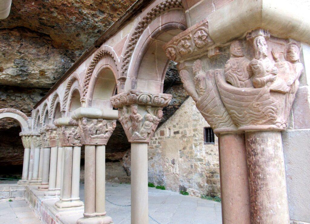 Capiteles claustro monasterio de San Juan de la Peña